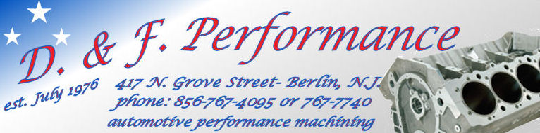 d. and f. performance logo