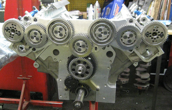 500cuin SOHC FE Ford with custom gear drive